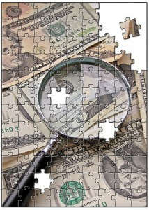 Money puzzle, licensed via Creative Commons via taxbrackets.org
