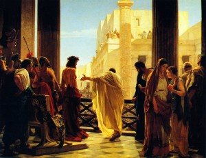 Ecce Homo, by Antonio Ciseri, 1871, in public domain.