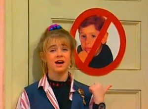 Still from Clarissa Explains It All, copyright Nickelodeon, used without permission, but come on, it's perfect.