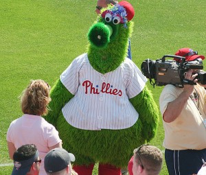 "The Philly Phanatic, by Flickr user ""Jakes_World"", licensed via Creative Commons."