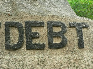 "Debt, by Flickr user ""iandavid"", licensed via Creative Commons."