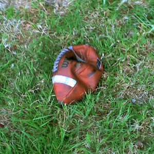 Deflated Football, by Flickr user kevindean, licensed via Creative Commons.