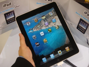Apple iPad, From Flickr user John.Karakatsanis, Licensed via Creative Commons