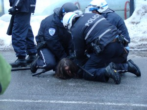 Police Brutality in Montreal By Flickr User Yannick Gingras Licensed Under Creative Commons
