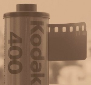 Film roll in sepia, by flickr user mukais, licensed by Creative Commons