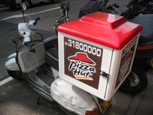 Pizza Hut Delivery by Flickr User Tracy Hunter Liscenced by Creative Commons