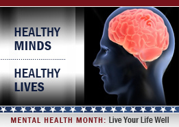 Mental Health Month by Flickr user MilitaryHealth, licensed by Creative Commons