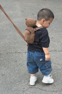 Leashed Child by Flickr user athomson, liscensed by Creative Commons