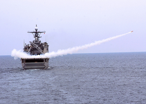 USS Tortuga launches a target drone during Cooperation Afloat Readiness and Training by Flickr user Official U.S. Navy Imagery, licensed by Creative Commons
