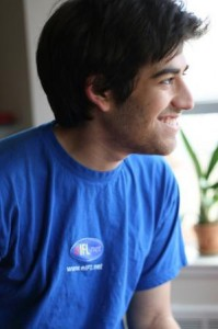 Aaron Swartz at the EIFL visioning retreat 2008, taken by Quinn Norton by Flickr user EIFL: knowledge without boundaries, licensed by Creative Commons