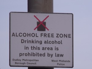 Alcohol Free Zone by Flickr User El Brown Licensed Under Creative Commons
