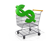 shopping Cart Dollar Sign by Flickr user One Way Stock, licensed by Creative Commons