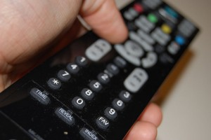 A remote controller for a television,by Flickr user Tom Morris, licensed by Creative Commons