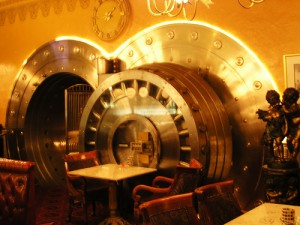 bank vault dining, by flick user Ishrona, licensed by Creative Commons