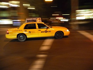 Yellow cab.JPG by wiki user Octagon, Lincensed by Creative Commons