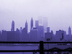 NYC Skyline 1976 WTC World Trade Center