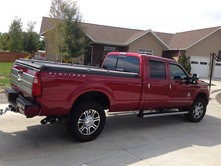 Black Folding Truck Bed Cover On Black Folding Truck Bed Cover On Ford  Super Duty Platinum