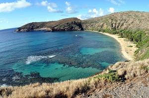 Hanauma Bay 2 Oahu Hawaii, by Wikimedia user WPPilot, licensed by Creative Commons.