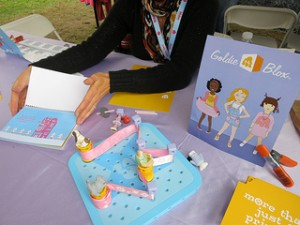 Goldieblox, an interactive book trying to attract girls into engineering, by Flickr user ricarose, licensed by Creative Commons.
