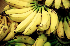 bananas, Flickr user Fernando Stankuns, licensed by Creative Commons.