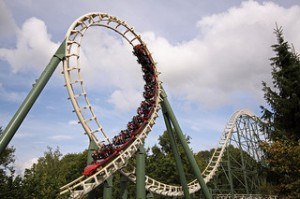 "Roller Coaster ""Python"" Theme Park Efteling - The Netherlands"