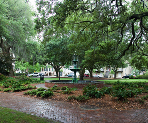 Lafayette Square, Savannah, GA by flickr user Chris Yates, licensed by Creative Commons