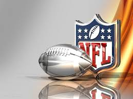 Silver Football and NFL Logo Over Bronze Silk Background, by flickr user C_osett, licensed by Creative Commons.